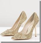 Buffalo gold glitter high heels