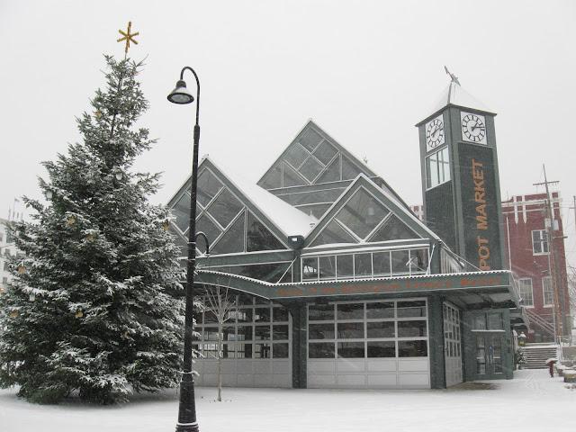 Farmer's Market building covered in snowCredit: Amiel Martin