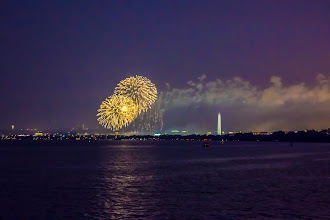 Photo: Happy Fourth of July!  Want to find a great place to watch fireworks? This shot here was taken from Bolling Air Force Base in DC. It is across the Potomac from the National Mall, so you'll have a great view!