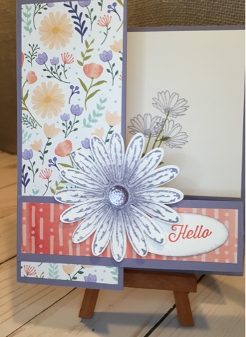 Daisy Delight Z fold card