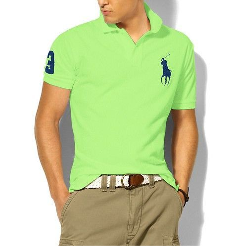 Cheap Navy Verdant Ralph Lauren Polo Big Pony Short Sleeved Men(polo21224rp) Outlet Sale