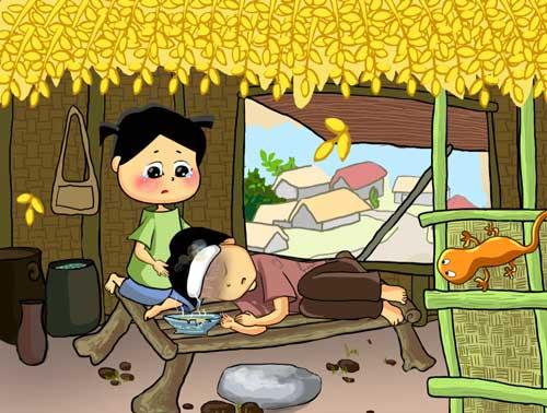 Truyện cổ tích Việt Nam: Sự tích hoa cúc trắng