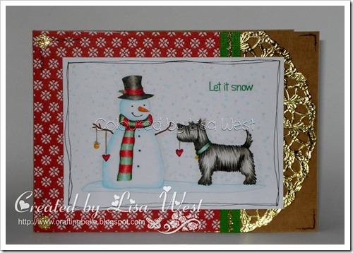 Christmas Scottie with Snowman (1)