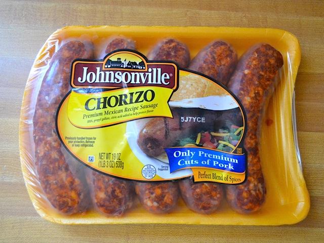 package of raw chorizo