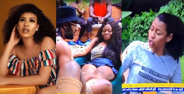 """""""I'm not scared of you, Tega, Fvck You"""" – Nini set to Beat Tega over a """"Garden Chair."""" [Video]"""