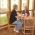 Jean Gleaves breakfasts with Virginia Melton