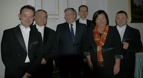 MozART group with the President of the Republic of Poland, H.E. Bronisław Komorowski and First Lady Anna Komorowska after a private concert