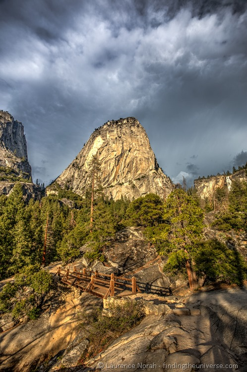 Yosemite views on the way up to Nevada Falls