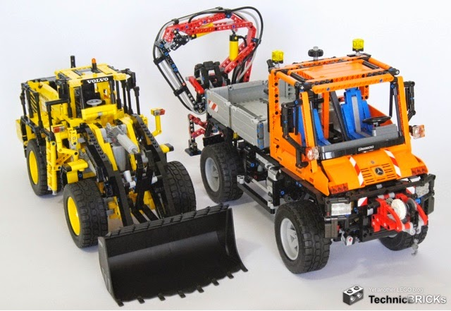 Lego Technic Hub 42030 Size Compared To The 42009 Mobile Crane And