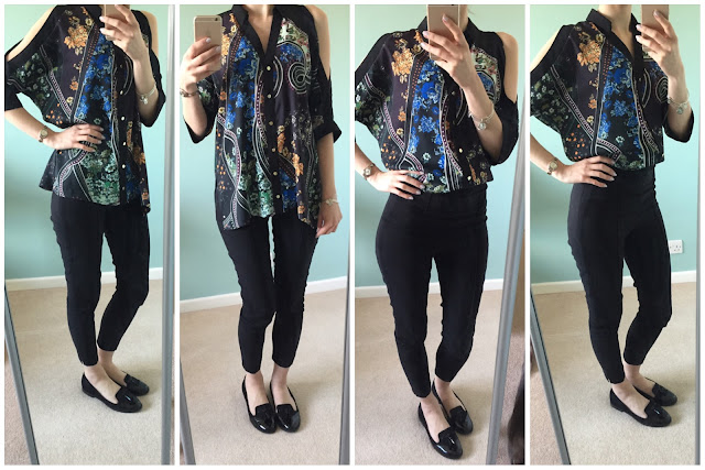 River Island cold shoulder blouse