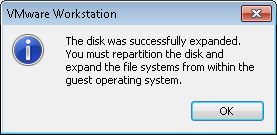 Preparar máquina virtual Linux en VMware Workstation para aumentar tamaño HD