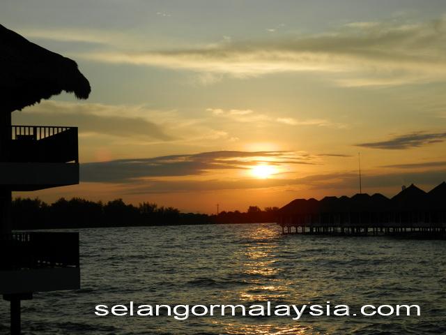 sun rise scene at Malaysia