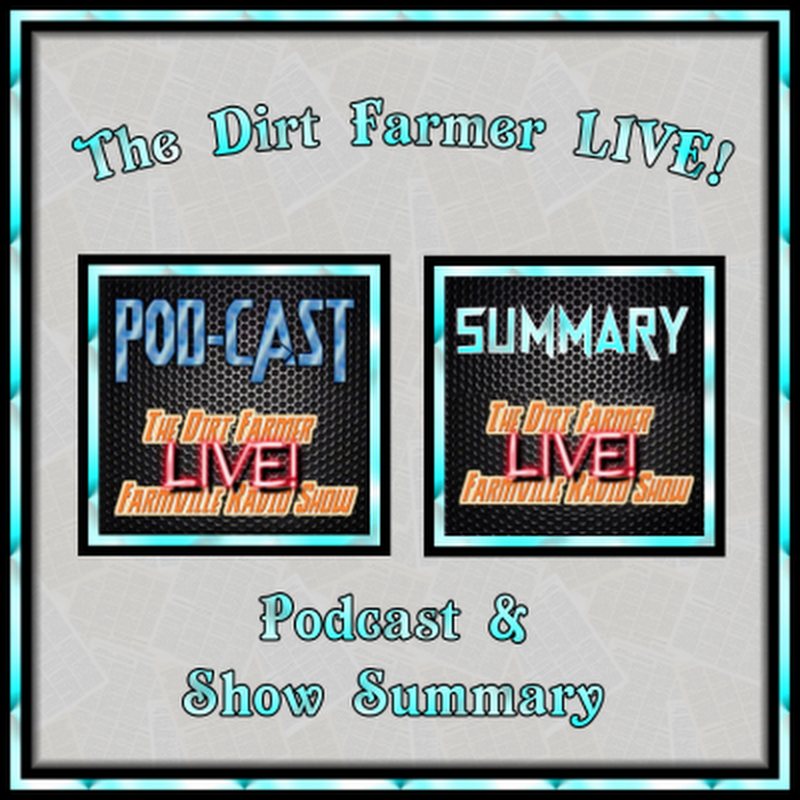The Dirt Farmer LIVE! Podcast and Summary October 30st, 2016