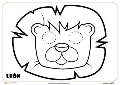 leon mascara de animales  para colorar (83)_thumb