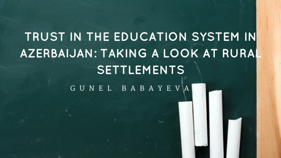 Trust in Education System in Azerbaijan