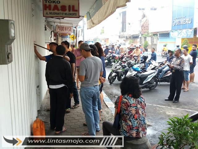 Aksi pencurian di Jl. Mojopahit Kota Mojokerto