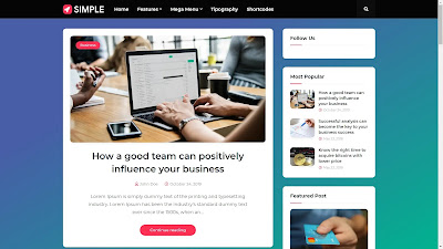 Simple Seo friendly blogger template download