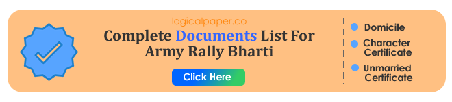 Documents Required For Indian Army GD