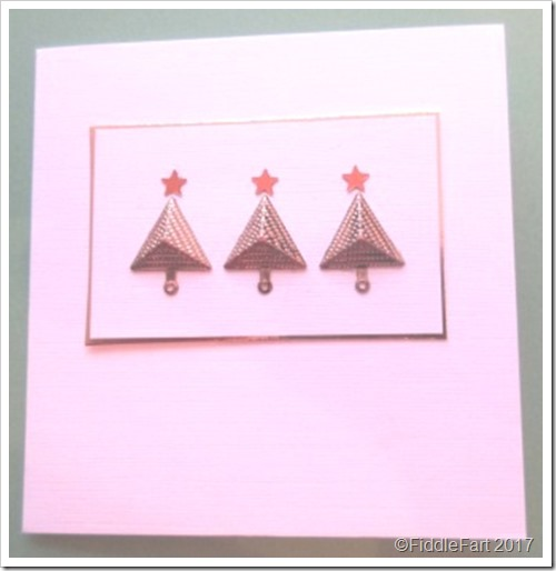 Christmas Tree Card.  Pyramid Christmas Card