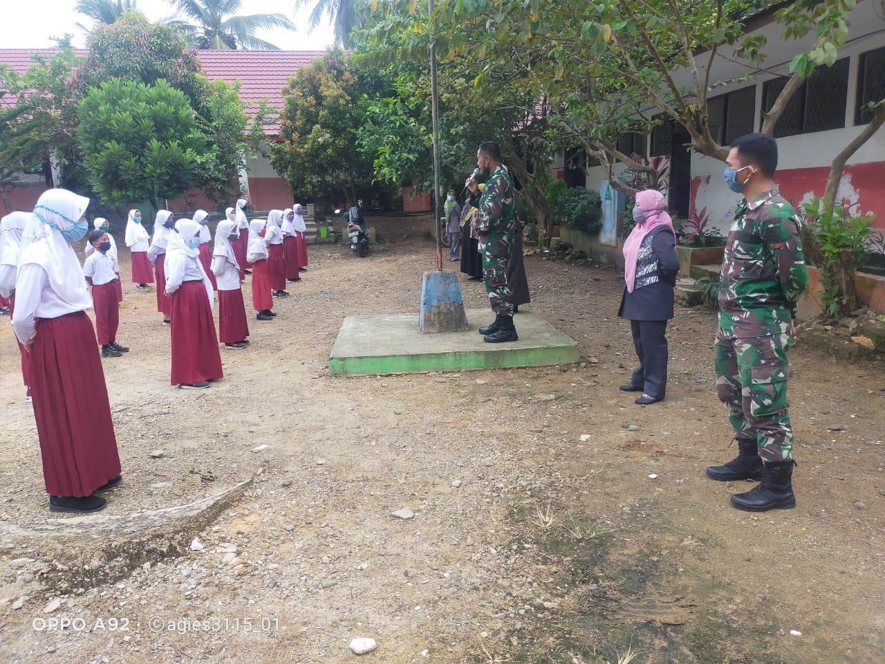 Tanamkan Disiplin, Satgas TMMD ke 110 Kodim 1008/Tanjung Latih PBB