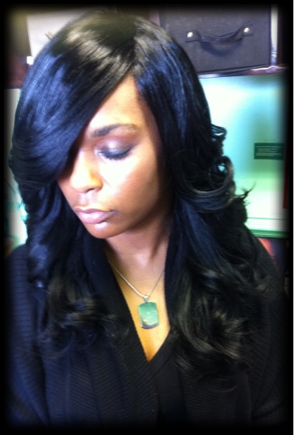 hairstyles without bangs : sew human hair weave sew hair extensions full sew in weave sew in ...
