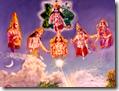 [Krishna and the demigods]