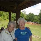 Fran Nichols & Sue Phillips at Raven Cliff.  Sue attend the Cripple Creek elementary school.