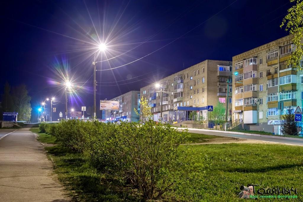 Ночной Суворов. Улица Тульская