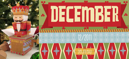 2011 Nutcracker Papercraft Calendar December