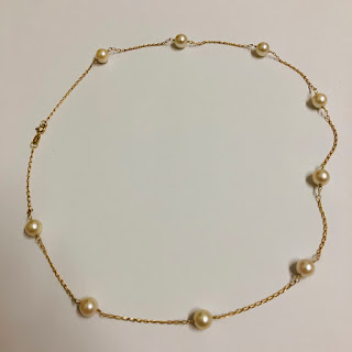 14K Gold & Pearl Necklace