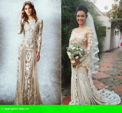 Hình 1:                         Phương Vy buồn khi bị chê váy cưới