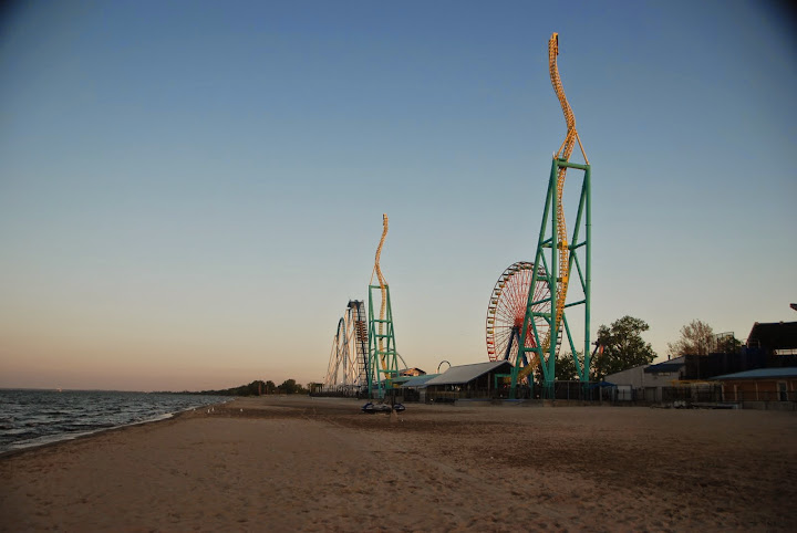 Lake Erie at Cedar Point at Sunset - gorgeous! From The Complete Guide to Visiting Cedar Point