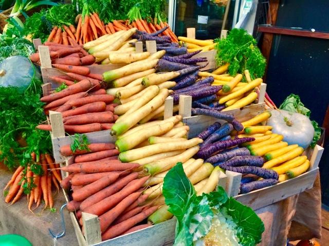 Heirloom carrots at Borough Market