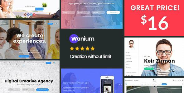 Wanium v1.6.5 – A Elegant Multi-Concept Theme