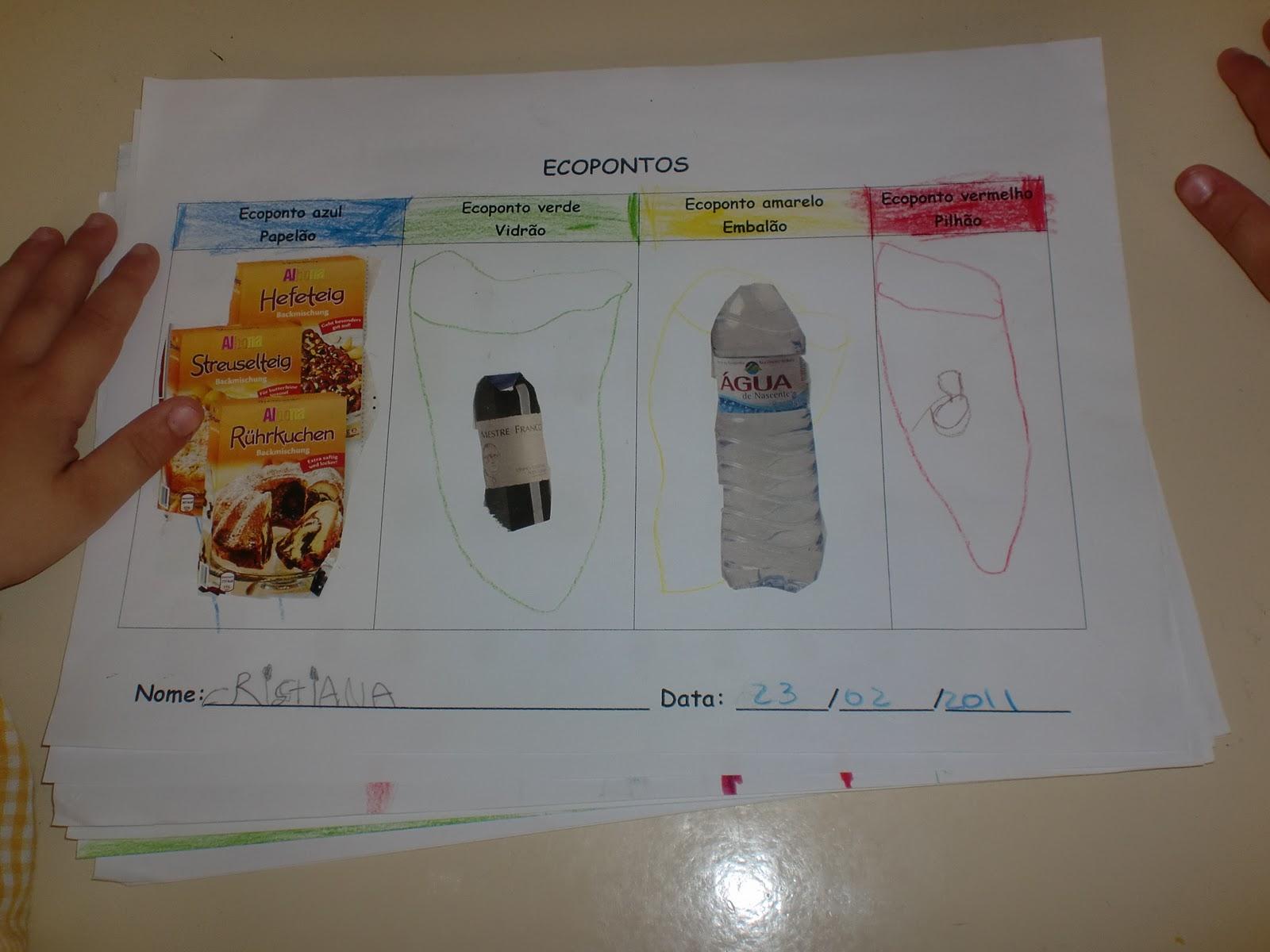 imagens jardim infancia: Encantada e a Magia da Leitura: Mini Reciclagem no Jardim de Infância