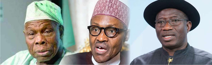 Buhari In Crucial Meeting With Obasanjo, Jonathan, Security Chiefs, Others Over #EndSARS Protest