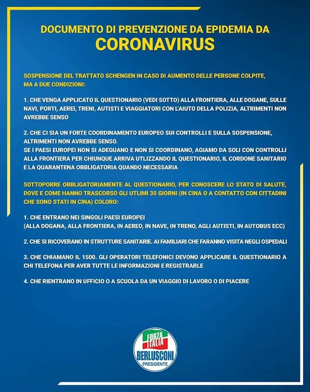 CORONAVIRUS, SICLARI (FI): ECCO LA PROPOSTA PRESENTATA AL MINISTRO. QUALCHE ESPERTO IN TV È MEGLIO STIA IN SILENZIO