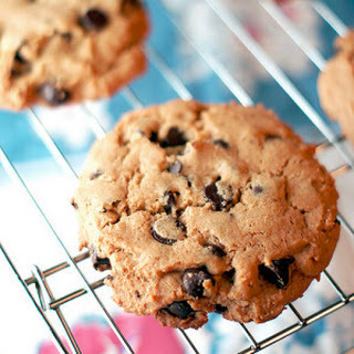 Bakery Style Peanut Butter Chocolate Chip Cookies.
