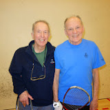 Men 80+ winner Phil Leis and finalist Lee Engler
