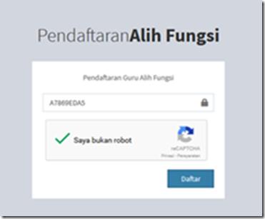kode registrasi alih fungsi