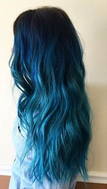 Blue Hairstyles For long Hair-It Is Different 2017 1