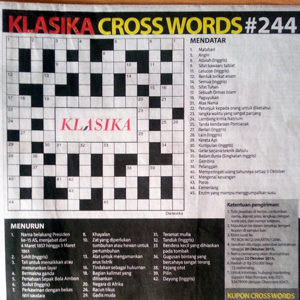 Klasika Crossword