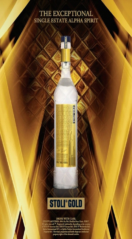 Stoli® Vodka Unveils Innovative New Design for Super-Premium Stoli® Gold