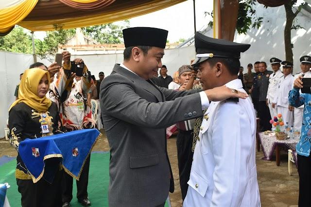 Bupati Agung Lantik Kepala Desa Madukoro kecamatan kotabumi utara
