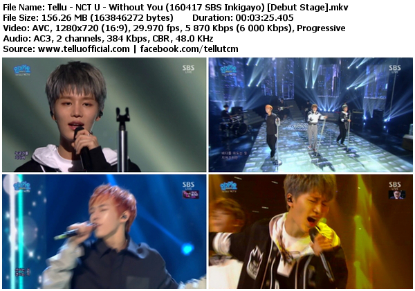 Download [Perf] NCT U – Without You + The 7th Sense @ SBS Inkigayo