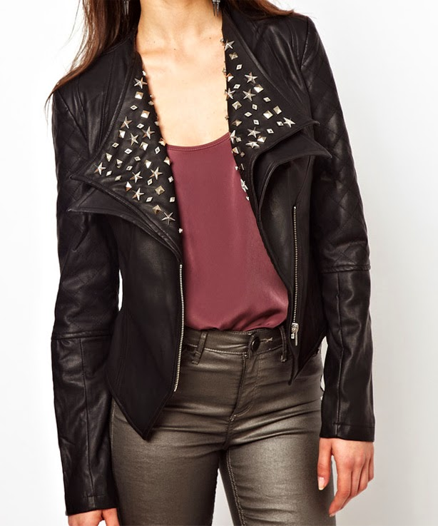 Veste type biker, blouson motard de Little Mistress