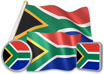 South African flag animated gif collection