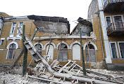Рухнуло здание Николаевского национального университета, парализовав работу знаменитой олимпийской школы фехтования