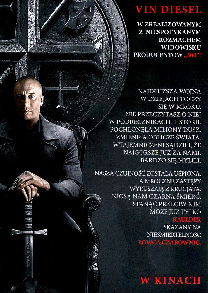 Ulotka filmu 'Łowca Czarownic (tył)'