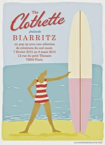 the clothette,paris,pop-up store,biarritz,cutups,monk,wool beer,albertine swim